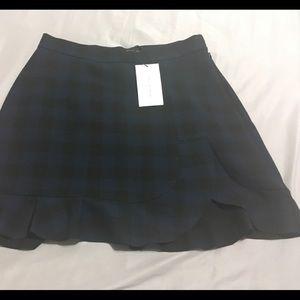 NWT zara plaid mini skirt